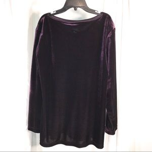 Vintage Tops - Purple Velvet Tunic, Size Medium